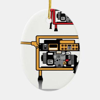 Portable Generator vector Christmas Ornament