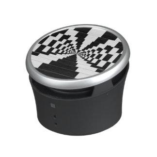 Portable Speaker Optical Illusion Black and White