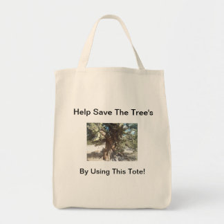 Portable Tote Bag - Help Save The Trees