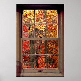 Portable Window AUTUMN Scene Poster