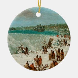 Portage Around the Falls of Niagara at Table Rock Christmas Ornament