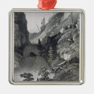 Portage in Hoarfrost River, August 19th, 1833, fro Christmas Ornament
