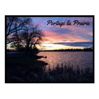 Portage la Praririe - Lake at Sunset 1 Postcard