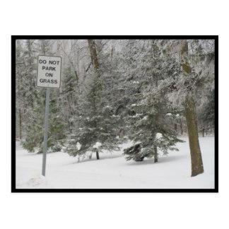 Portage - snow humor postcard