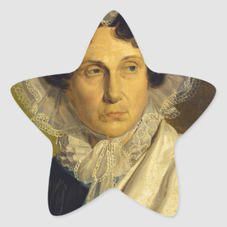 Portait of the Artist's Mother by Alfred Rethel Star Sticker