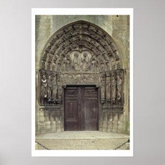 Portal and surrounding sculptures with biblical fi poster
