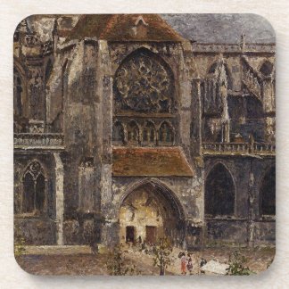 Portal from the Abbey Church of Saint Laurent Beverage Coasters