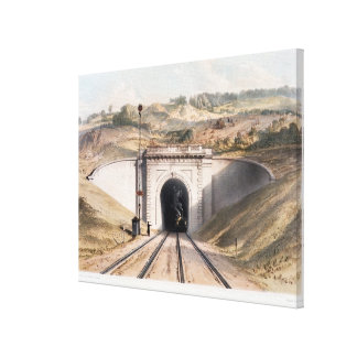 Portal of Brunel's box tunnel near Bath Canvas Print