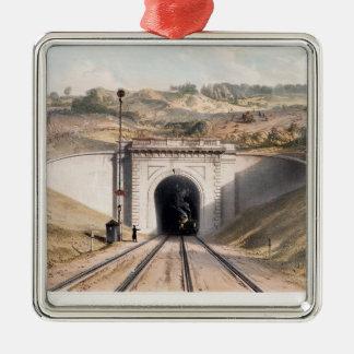 Portal of Brunel's box tunnel near Bath Christmas Ornament