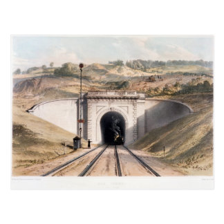 Portal of Brunel's box tunnel near Bath Postcard