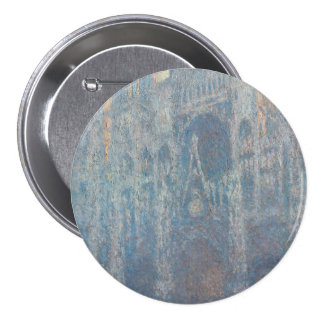 Portal of Rouen Cathedral Morning Light by Monet 7.5 Cm Round Badge