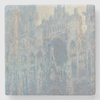 Portal of Rouen Cathedral Morning Light by Monet Stone Coaster