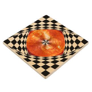 Portal to the Sun Maple Wood Coaster