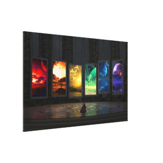 Portals Wrapped Canvas