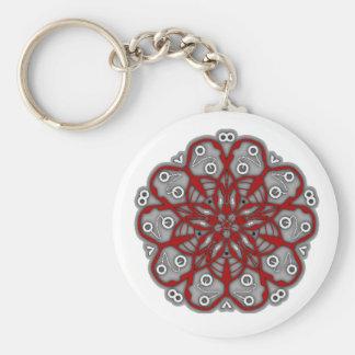 Porte-clés fleurs psychédélique