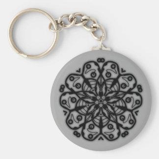 Porte-clés fleurs psychédélique n°3
