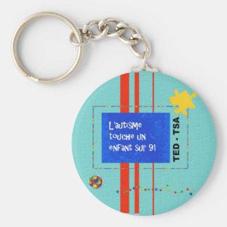porte-clés L'autisme touche un enfant sur 91 Key Ring
