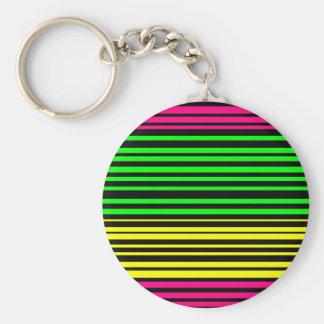 Porte-clés ligne abstrait flashy