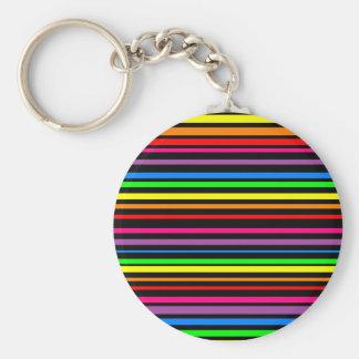 Porte-clés lignes psychédélique disco