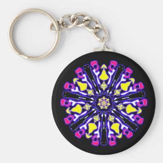Porte-clés psychédélique coloré n°1