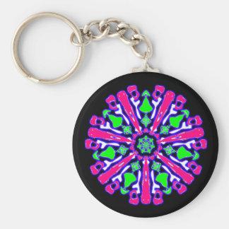Porte-clés psychédélique coloré n°3