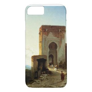 Porte de Justice, Alhambra, Granada (oil on canvas iPhone 7 Case