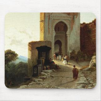 Porte de Justice, Alhambra, Granada (oil on canvas Mouse Mat