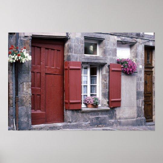 Porte Rouge de la Rue du Petit Fort Poster