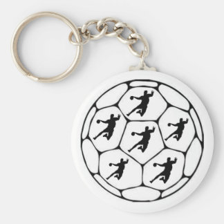 Portecles handball basic round button key ring