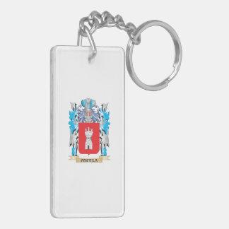 Portela Coat of Arms - Family Crest Rectangle Acrylic Key Chain