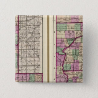 Porter County and Lake County 15 Cm Square Badge