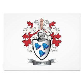 Porter Family Crest Coat of Arms Art Photo