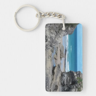 Porth Beach Newquay Cornwall Photograph Key Ring