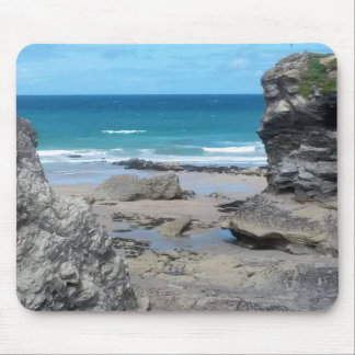 Porth Beach Newquay Cornwall Photograph Mouse Mat