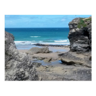 Porth Beach Newquay Cornwall Photograph Postcard
