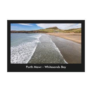Porth Mawr Whitesands Bay Wales Canvas Print