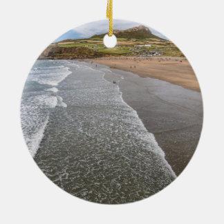 Porth Mawr Whitesands Bay Wales Round Ceramic Decoration