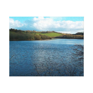 Porth Reservoir Nr Newquay Cornwall England Winter Canvas Print