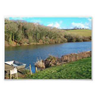 Porth Reservoir Nr Newquay Cornwall England Winter Photograph