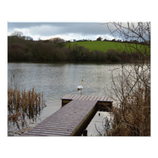Porth Reservoir Nr Newquay Cornwall England Winter Photo Print