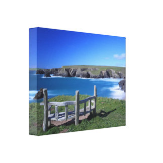 Porthcothan Bay in Cornwall Stretched Canvas Print