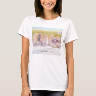 Porthcurno beach cliffs T-Shirt