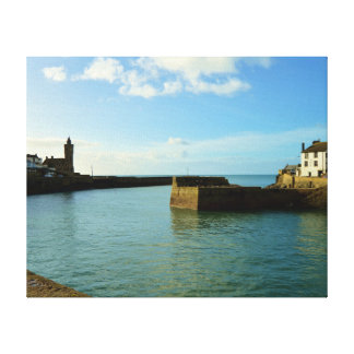 Porthleven Cornwall England Harbour Wall Canvas Print