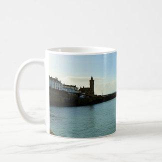 Porthleven Cornwall England Harbour Wall Basic White Mug