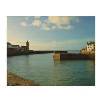 Porthleven Cornwall England Harbour Wall Wood Wall Art