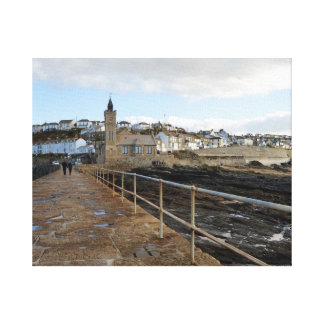Porthleven Cornwall England in Winter Canvas Print