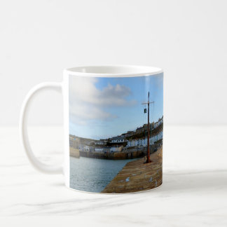 Porthleven Cornwall England in Winter Basic White Mug