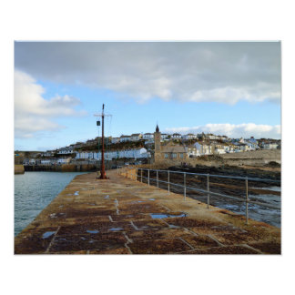 Porthleven Cornwall England in Winter Photo Print