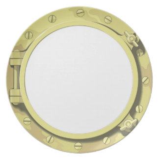 Porthole from a sailing ship or boat party plates