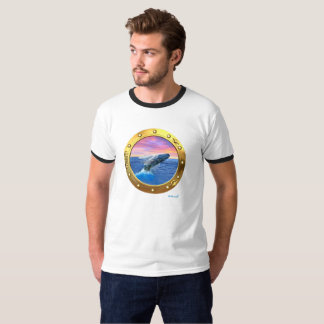 Porthole View of a Breaching Whale Tee Shirts